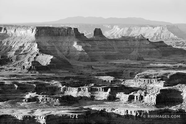DEAD HORSE POINT STATE PARK UTAH CANYONLANDS NATIONAL PARK UTAH SUNRISE BLACK AND WHITE