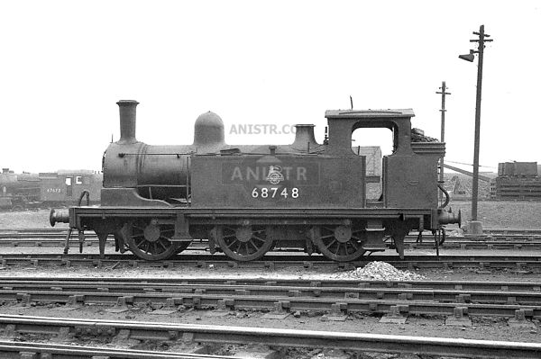 J72 Class No. 68748 at Darlington shed  31/03/1957