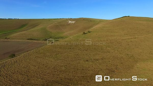 Westbury or Bratton White Horse Whiltshire UK.