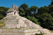 Temple of the Cross, Maya ruins of Palenque, Mexico