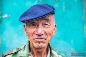 Portrait of old chinese man, Pingyao, China
