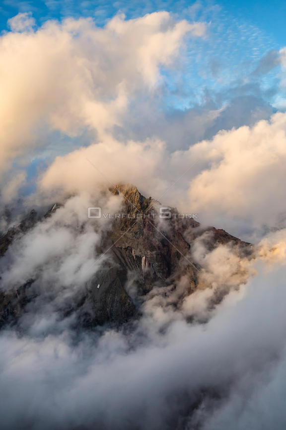 Mount Garibaldi Whistler Area Shrouded in Cloud