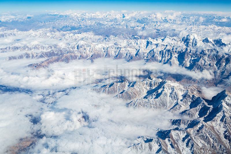 Aerial View of the Hindu Kush Mountain Range