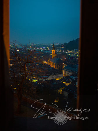 The 'Church of the Holy Spirit' at night - Heidelberg, Germany