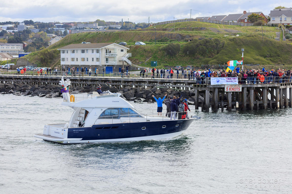 Vartry (Ireland) arriving in Aberystwyth harbour