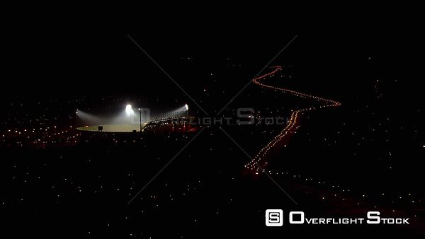Aerial over the Royal Bafokeng Stadium and surrounding areas. Rustenburg North West South Africa