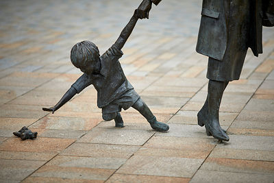 'Grandmother and Child' statue