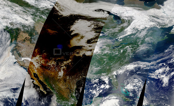 NASA Satellite Captures Passage Of Total Eclipse Across North America
