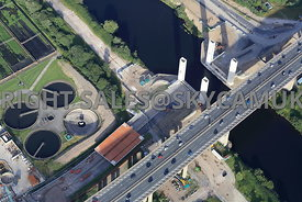 Barton Lifting Bridge and the completion of the removal of the collapsed central lifting section of the bridge clearing the b...