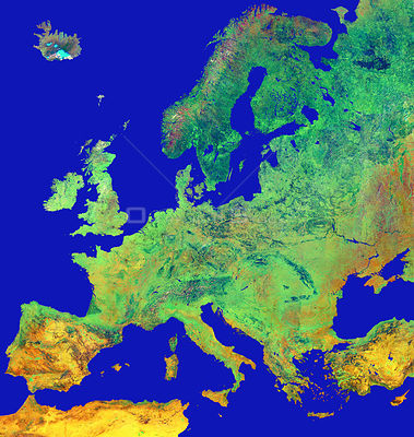 EUROPE -- Graphic of Europe created from satellite imagery