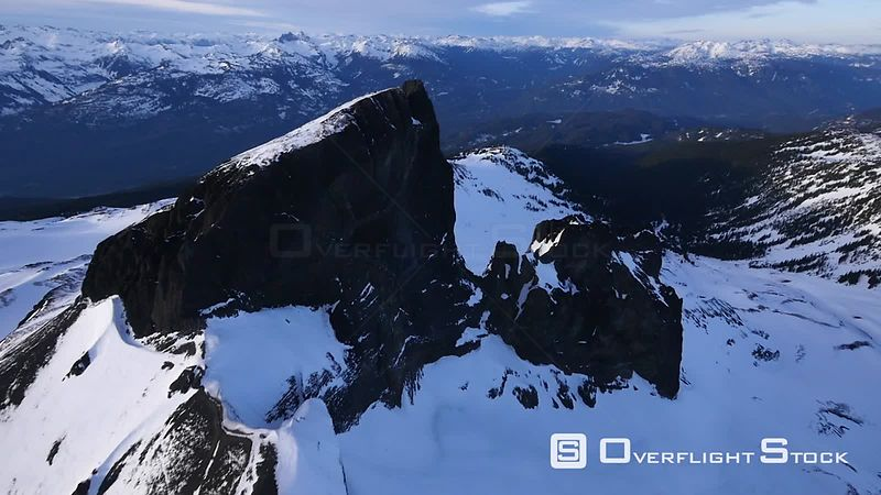 Flyby of Black Tusk in Garibaldi Park Whistler BC Canada