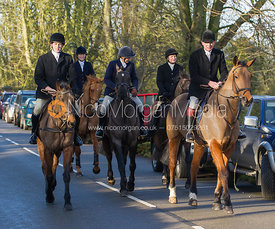 The Bevin Family arriving at the meet at the Carington Arms, Ashby Folville