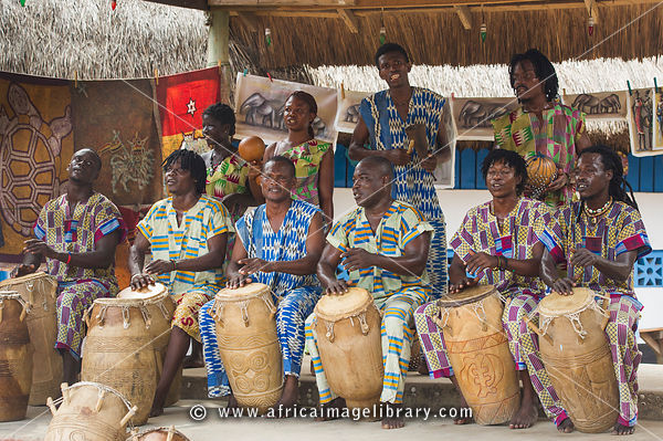 Photos and pictures of: Traditional music band, Kokrobite