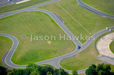 Aerial view of Brooklands race track