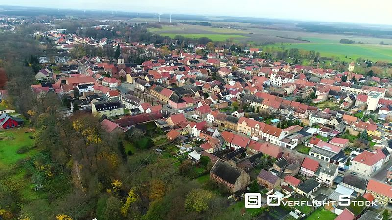 Video View of the village in Treuenbrietzen in the state of Brandenburg