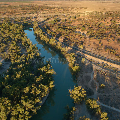 Darling River north of Wentworth, NSW, Australia