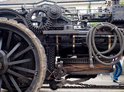 McLaren ploughing engine at Trevithick Day in Camborne