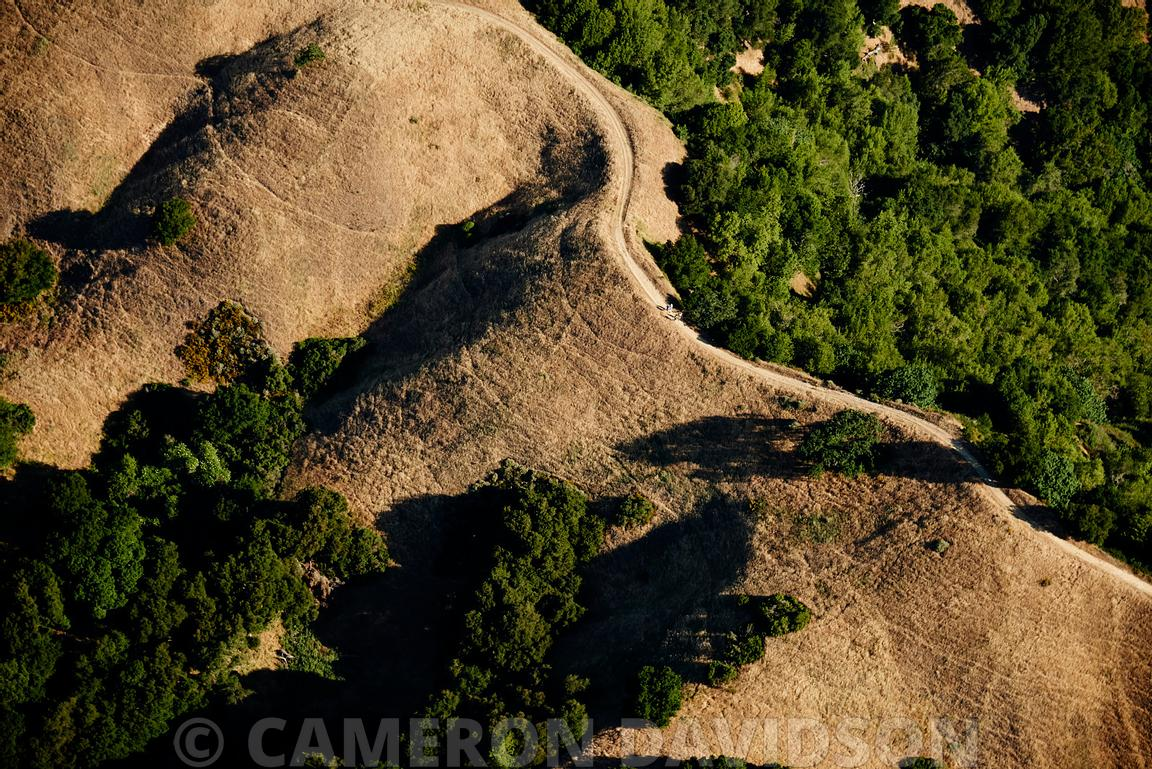 Aerial, Path, California