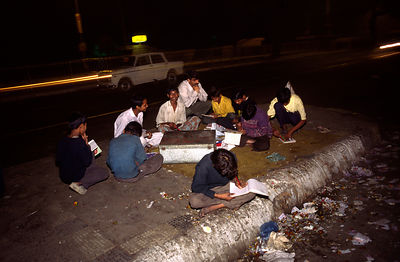 India - Delhi - A night time literacy class