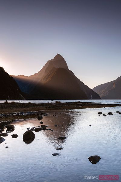 Landscape: iconic view of Milford Sound, New Zealand