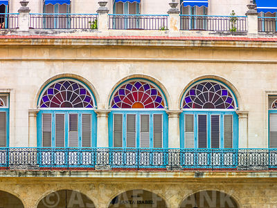 Traditional Cuban house with balcony, Havana
