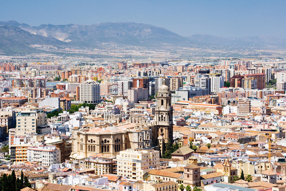Cityscape of Málaga Andalucia Spain