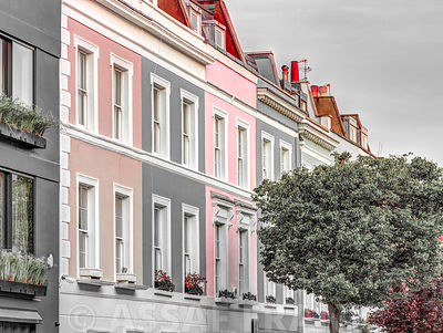 Colorful building in Notting Hill, London