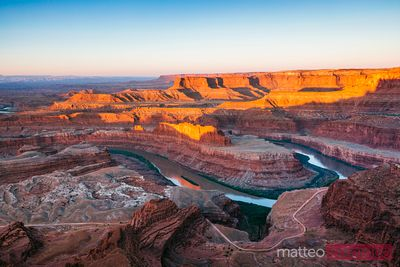 Alba a Dead Horse point, Canyonlands, Stati Uniti