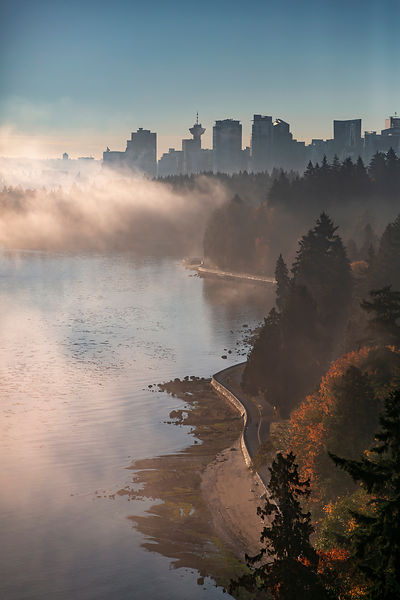 Fall Fog and Stanley Park