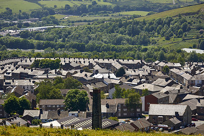 Rooftops over Haslingden