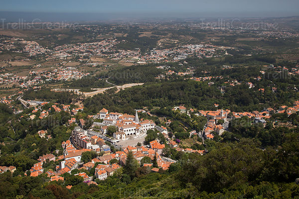 Looking down on the town of Sintra, Portugal