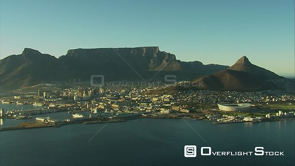 Aerial shot over Cape Town. Cape Town Western Cape South Africa