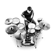 Drummer from above
