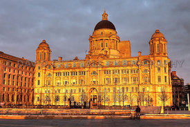 Port of Liverpool Building - Lit Up By Autumn Sun