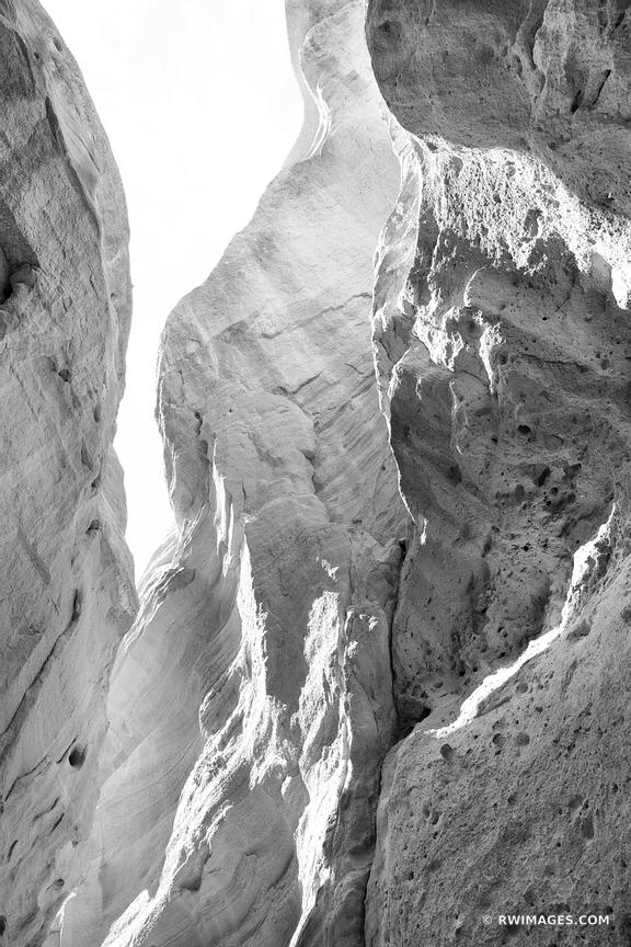 KASHA-KATUWE TENT ROCKS NATIONAL MONUMENT NEW MEXICO BLACK AND WHITE VERTICAL