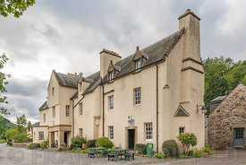 FORTINGALL, SCOTLAND - AUGUST 27, 2018: The Fortingall Hotel in the village of Fortingall in highland Perthshire, Scotland.