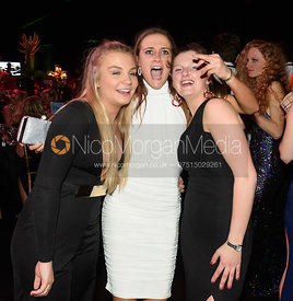 Elly Broughton, Isobel McEuen, Hermione Brooksbank. The Quorn Hunt Ball