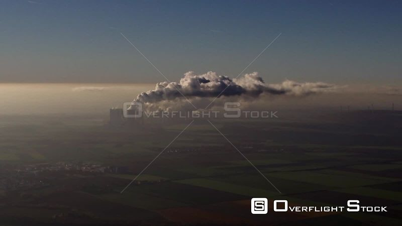 Coal power plants of RWE Power AG Niederaussem power plant in Bergheim in the state of North Rhine-Westphalia, Germany