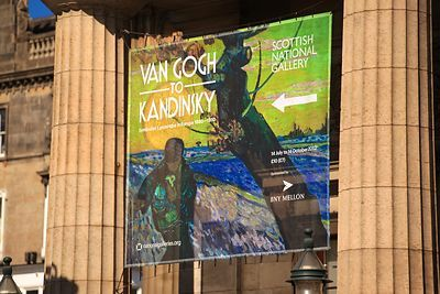 Poster for the Van Gogh to Kandinsky Exhibition at The Scottish National Gallery Edinburgh