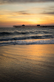 San Clemente Pier Sunset High Resolution Photo