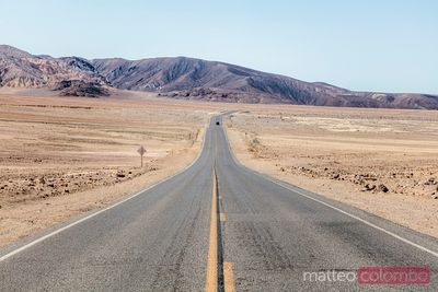 Empty road, Death Valley, USA