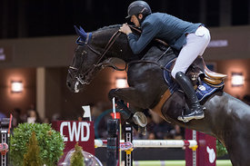 Bordeaux, France, 2.2.2018, Sport, Reitsport, Jumping International de Bordeaux - . Bild zeigt Gregory WATHELET (BEL) riding ...