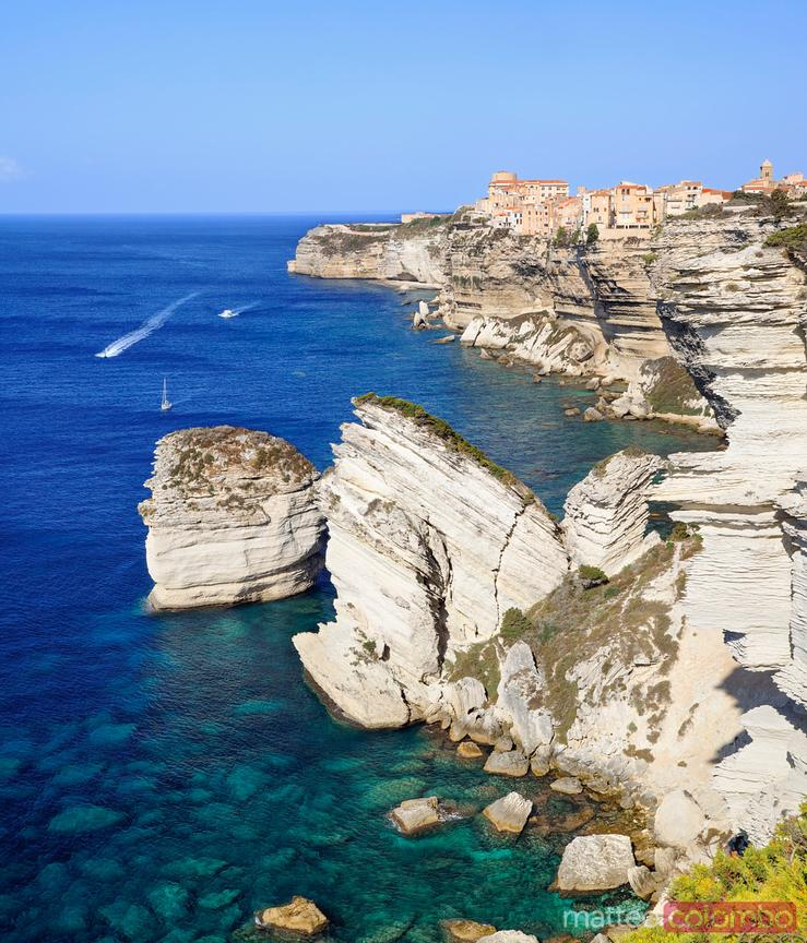 Bonifacio on the cliffs, Corsica, France