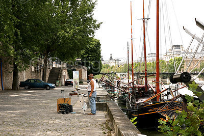 Artist on the Bank of The River Seine