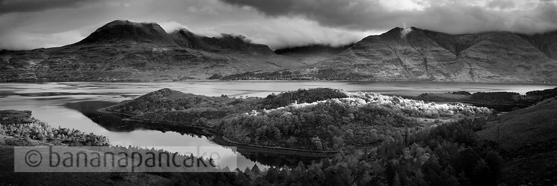 BP3135 - Upper Loch Torridon, Black and White Print
