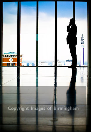 Businessman in 11 Brindleyplace, Birmingham, West Midlands.