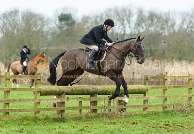 Jeremy Dale jumping a fence at Goadby Marwood 11/1