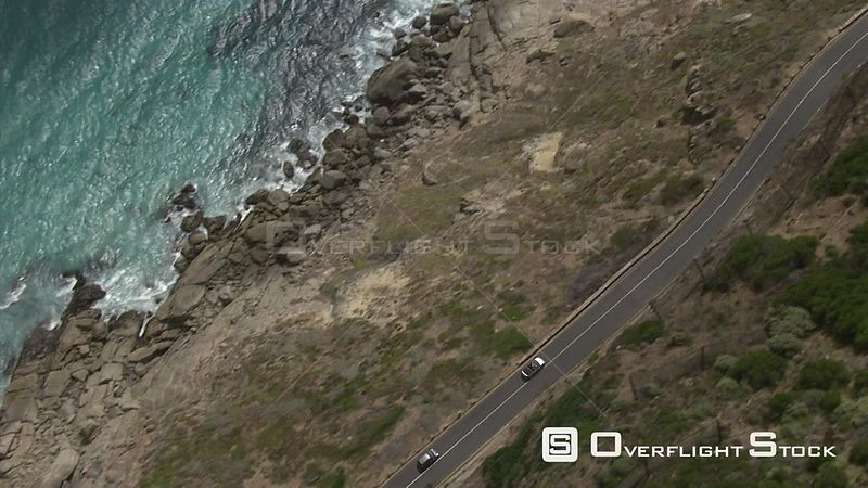Aerial over Chapman's Peak Drive Chapman's Peak Drive Hout Bay Western Cape South Africa