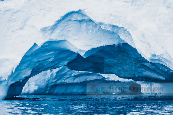 Gallery of ice under an iceberg in Ilulissat, Greenland