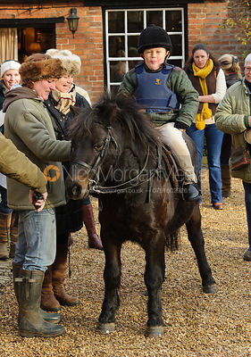 At the meet at the Martins Arms - The Belvoir Hunt at Colston Bassett 23-11